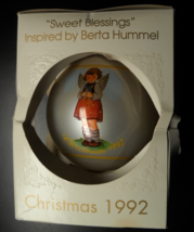 Schmid Collectors Gallery Christmas Ornament 1992 Sweet Blessings Berta Hummel - $10.99