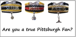 PITTSBURGH Sports Bracelet 3 Pack Gift Special - Steelers, Pirates AND Penguins! - $25.99
