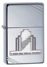 Zippo A Weeks Trial Vintage High Polish Chrome Lighter - $35.85