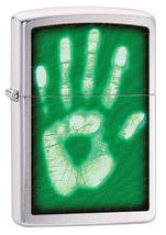 Zippo Ghostly Handprint Brushed Chrome Lighter - $28.85