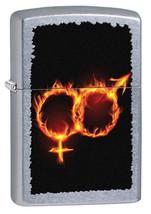 Zippo Male and Female Fire Street Chrome Lighter - $27.85