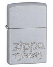 Zippo Scroll Satin Chrome Lighter - $25.85