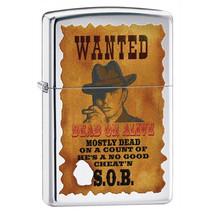 Zippo Wanted Poster High Polish Chrome Lighter - $31.85