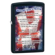 Zippo Military Wife's Prayer Black Matte Lighter - $30.85
