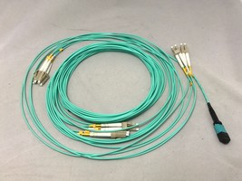 3M MTP (MPO) Female to 6 x LC OM3 Breakout Cable, 12 Fiber, Type B, Fan-out - $163.63