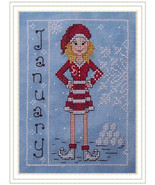 CLEARANCE Miss January Elves of North Pole Calendar Series Whispered By ... - $6.00
