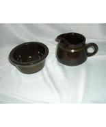 Vintage Open Sugar & Creamer Franciscan China Pottery Brown Madeira Cali... - $34.65