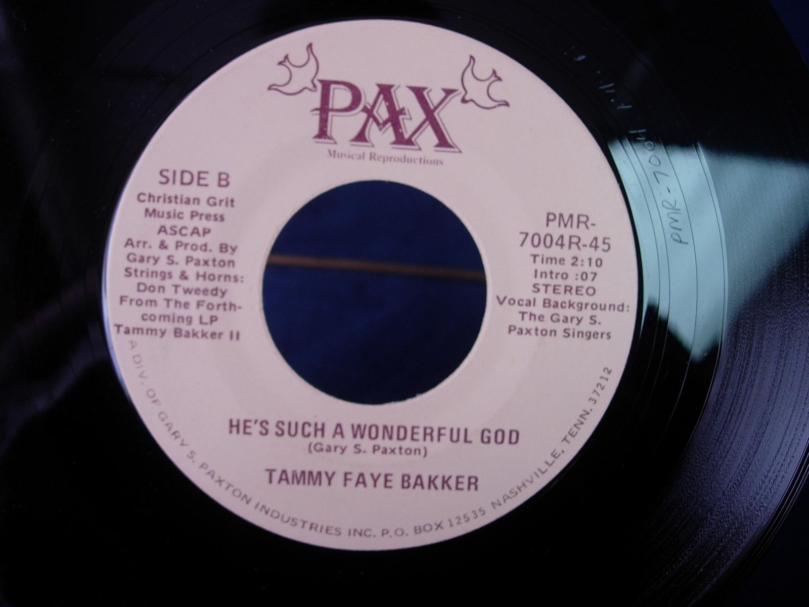 Tammy Faye Bakker - Jesus / He's Such a Wonderful God - PAX PMR-7004R