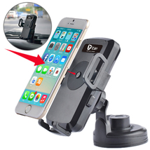 Itian universal 360 degree car wireless charger black car holder for sma... - $41.99