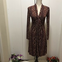 New BCBG Maxazaria Longsleeve Brown Dress Size S - $78.21