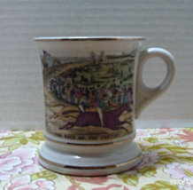 Vintage Race of The Century Horse Racing MUSTACHE CUP //  - $10.00