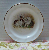 Vintage DUCHESS BONE CHINA Kitten With Rabbit Trinket/Ring/Pin Dish  Eng... - $9.50