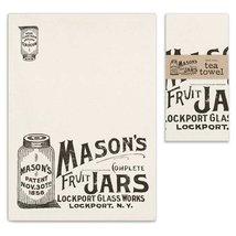 """Mason Jars"" Tea Towel, Pillow Base - Set of 4 - $31.99"