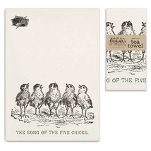 Song of the Five Chicks Tea Towel, Pillow Base - Set of 4 - $31.99