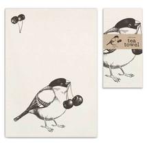 Bird with Cherries Tea Towel, Pillow Base - Set of 4 - $31.99