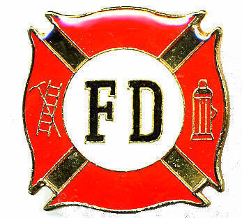 12 Pins - FIRE DEPARTMENT fd fighter lapel cap pin #237