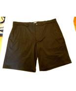 Men's MSX Michael Strahan Stretch Chino Shorts Big & Tall Black Size 42 ... - $29.69