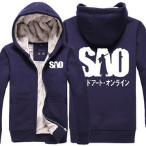 Sword Art Online SAO Kirigaya Kazuto Logo Long Sleeve Hoodies Coat  - $59.99