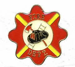 12 Pins - FIRE DEPARTMENT , fire fighter lapel pin #236 - $9.00
