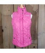 Wrangler Zipper Quilted Puffer Vest Jacket Pink Ribbon Breast Cancer Siz... - $24.19