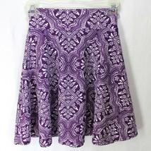 Lularoe Azure Skirt Girls Size 8 Purple White Print A-Line - $9.99
