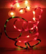 "Christmas Instant Decor Lighted Santa 43 Mini Lights Suction Cup 17"" x 1... - $9.49"