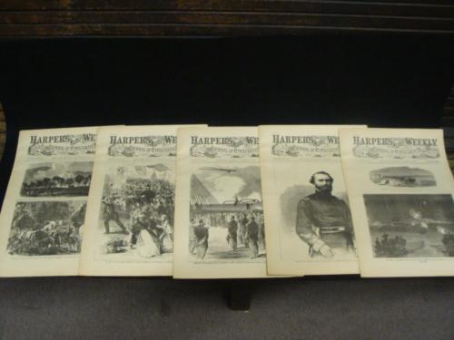1863 Harpers Weekly 5 ReIssued Historic Magazine October 3 10 17 24 31 Civil War