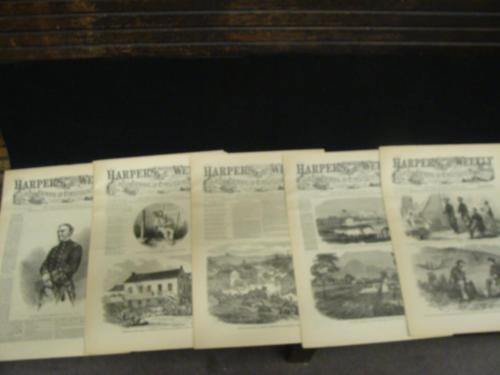 5 Issues August 1 8 15 22 29 1863 Harpers Weekly ReIssued Historic Newspapers