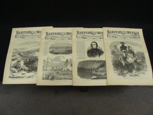 4 Issues June 6 13 20 27 1863 Harpers Weekly ReIssued Historic Newspapers
