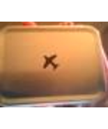 Small Silver Airplane Tin  Gift Box w/ Hinged Lid - $0.00