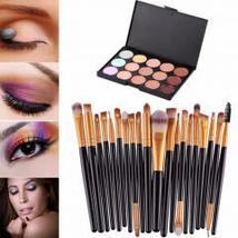 15 Colors Contour Face Cream Makeup Concealer Palette Professional + 20 ... - €13,94 EUR