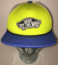 Vans - Off The Wall - Green Blue Mesh Trucker Hat Cap Snapback - Hipster Cool - $23.33