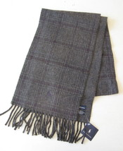 Polo Ralph Lauren Reversible Grey Plaid And Herringbone Scarf NWT!! - £23.27 GBP
