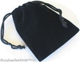 Jewelry Pouch Velour/Velvet type Pouch Lot of 5 Black Color - $4.90