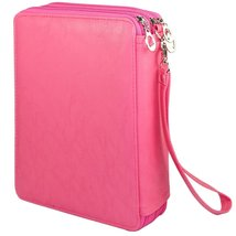 120 Slots Pencil Case, Travel Portable Colored Pencil Holder Pen Bag (Ro... - $20.99