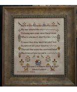 CLEARANCE Ann Barson Loughbro 1837 sampler cros... - $8.00