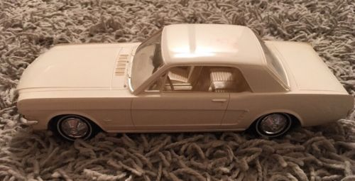 Primary image for 1965 AMT Promo White Car Ford Mustang, Collectible Promo Car