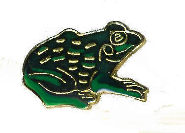 12 Pins - FROG , hat tac lapel pin #361