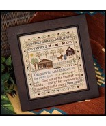 CLEARANCE Homestead Sampler cross stitch chart ... - $4.75