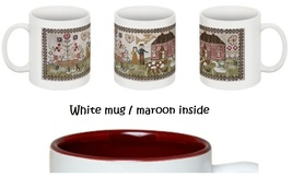 CLEARANCE Never Let You Go Sampler White/Maroon two tone 11 oz ceramic mug  - $9.00