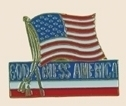 12 Pins - GOD BLESS AMERICA w/ American Flag pin sp018