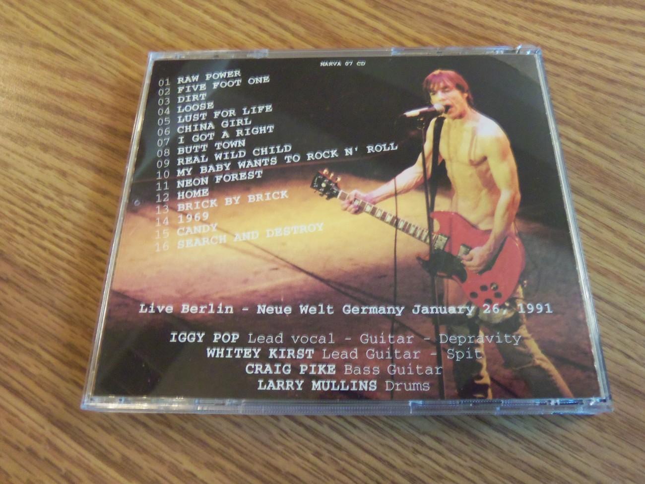 Iggy Pop Berlin 1991 Live Neue Welt Germany Original Vintage Cd Brick By Brick