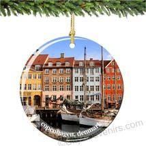 Denmark Christmas Ornament, Porcelain - $11.87