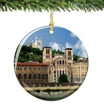 Lyon France Christmas Ornament Porcelain - $14.25