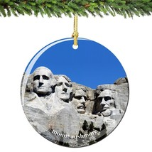 Mount Rushmore Christmas Ornament Porcelain - $12.66