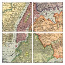 New York City Map Coaster Set of 4 - $34.64