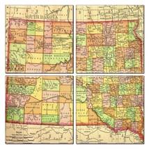 South Dakota Map Coaster Set of 4 - $34.64