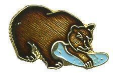 12 Pins - GRIZZLY BEAR , grizzley hat cap lapel pin 688