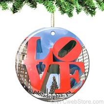 LOVE Porcelain Christmas Ornament - $14.10