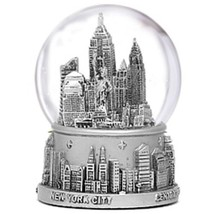 Mini Silver New York City Skyline Snow Globe 2.... - $14.84